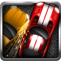 Illegal car race icon