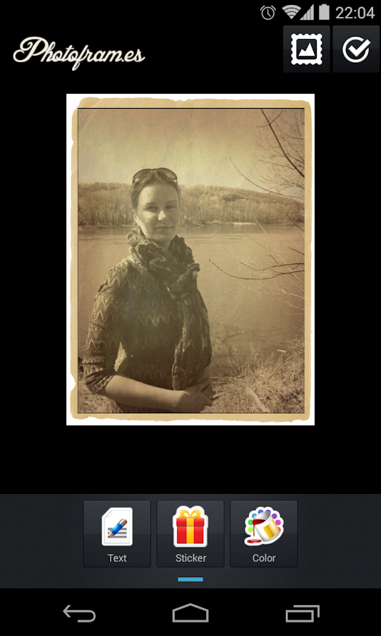 Vintage PhotoFrames- screenshot
