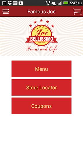 Famous Joe Bellissimo Pizza