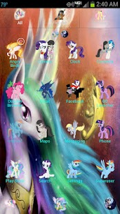 MLP: FIM GO Launcher EX Theme - screenshot thumbnail