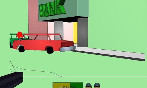 銀行強盗の銃撃戦