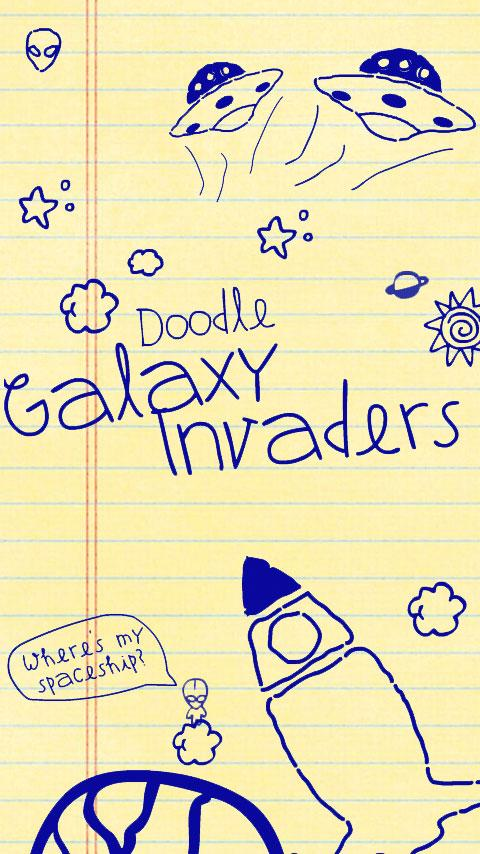 Doodle Galaxy Invaders- screenshot
