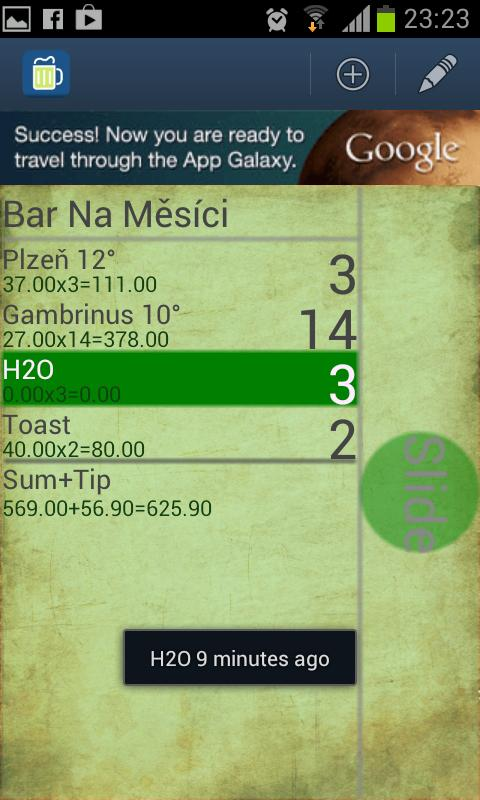 Pub Buddy - beer counter - screenshot