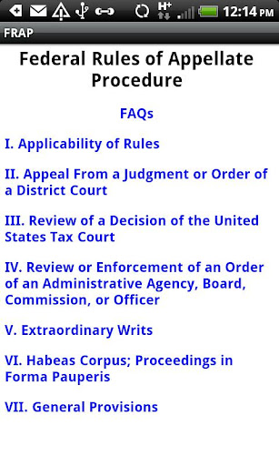 Screenshot #1 of Fed. R. Appellate Procedure / Android