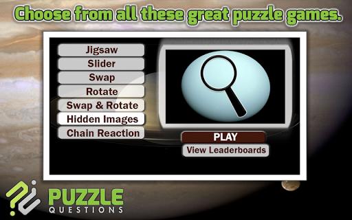 Solar System Puzzle Games