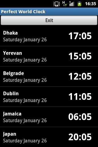 Time Zone Clock - screenshot