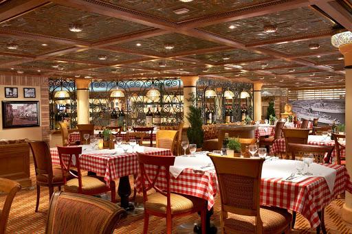 Carnival-Magic-Cucina-Del-Capitano-restaurant - Reservations are recommended at Cucina Del Capitano, Carnival Magic's popular family-style Italian restaurant.