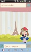 Screenshot of GO SMS Pro Sweet Paris Theme