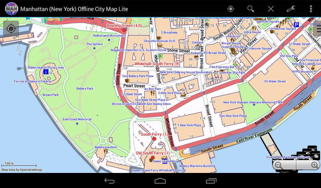manhattan offline stadtplan android apps auf google play. Black Bedroom Furniture Sets. Home Design Ideas