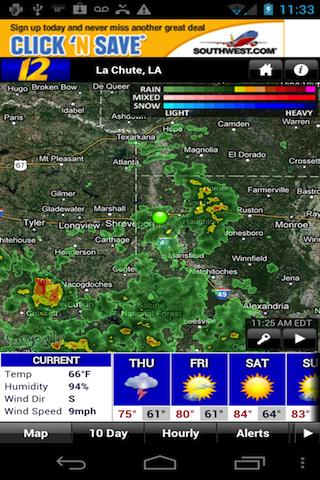 KSLA Stormtracker 12 Weather - screenshot
