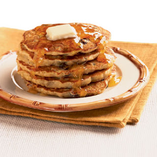 Banana, Raisin, and Oatmeal Pancakes.