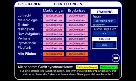 SPL Trainer – Miniaturansicht des Screenshots