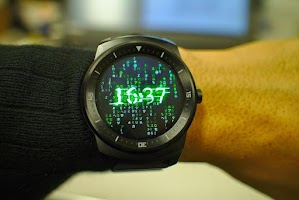 Screenshot of Matrix face for Android Wear