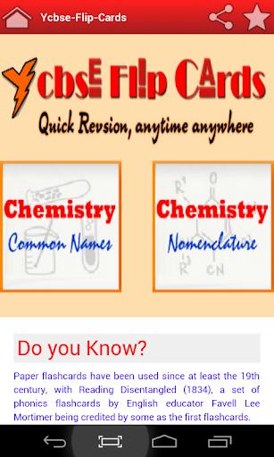 Chemistry Flip Cards