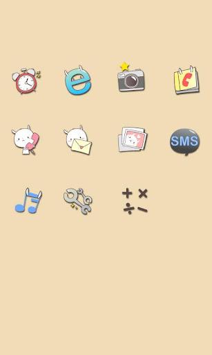 CUKI Theme Cute Rabbit Icons