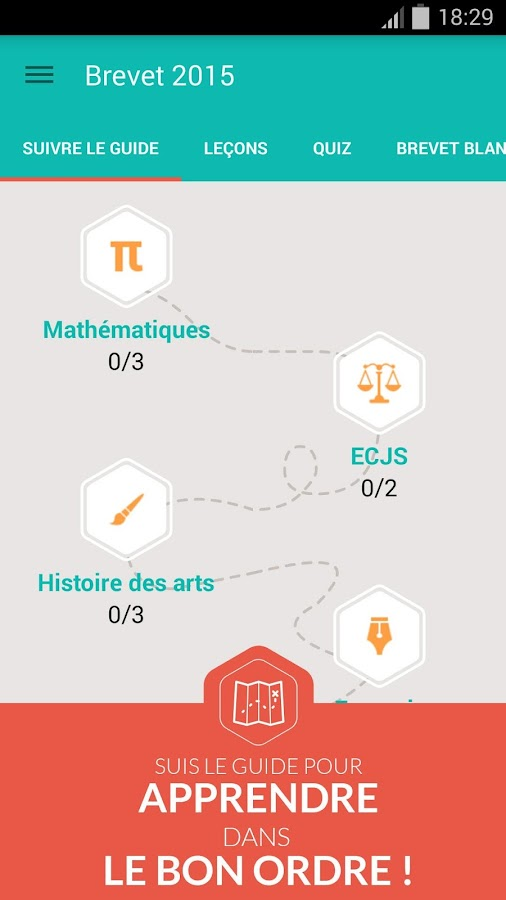 Brevet des collèges 2015 - screenshot