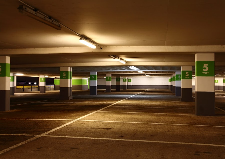 Car Park, level 5 by Mike Coombes - Buildings & Architecture Other Interior ( car, brighton, park, car park, level 5, marina )