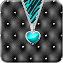 ♥ Teal Heart Zipper Locker ♥ icon