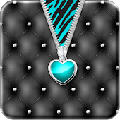 ♥ Teal Heart Zipper Locker ♥