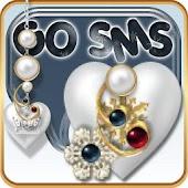 GO SMS THEME: Pearl Princess