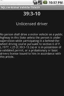 NJLaw Criminal Law - Title 2C- screenshot thumbnail