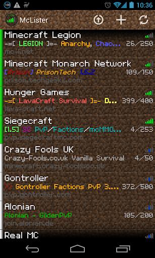 McLister - Minecraft Statuses