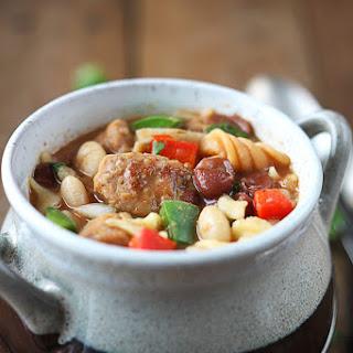 One Pot Italian Sausage Chili.
