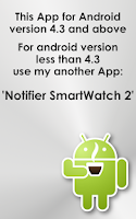 Screenshot of Notify for SmartWatch