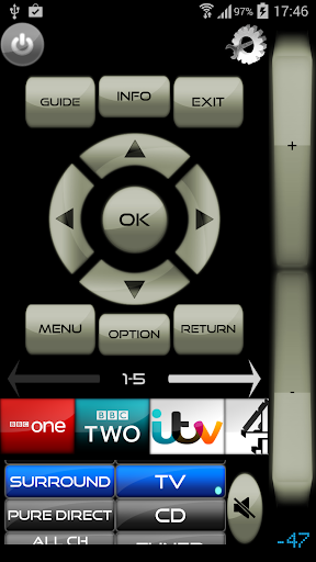 Remote for Panasonic TV+BD+AVR