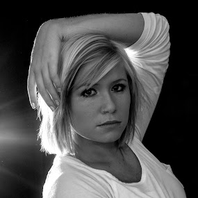 I am me by Star Image - Black & White Portraits & People ( black and white girl light,  )