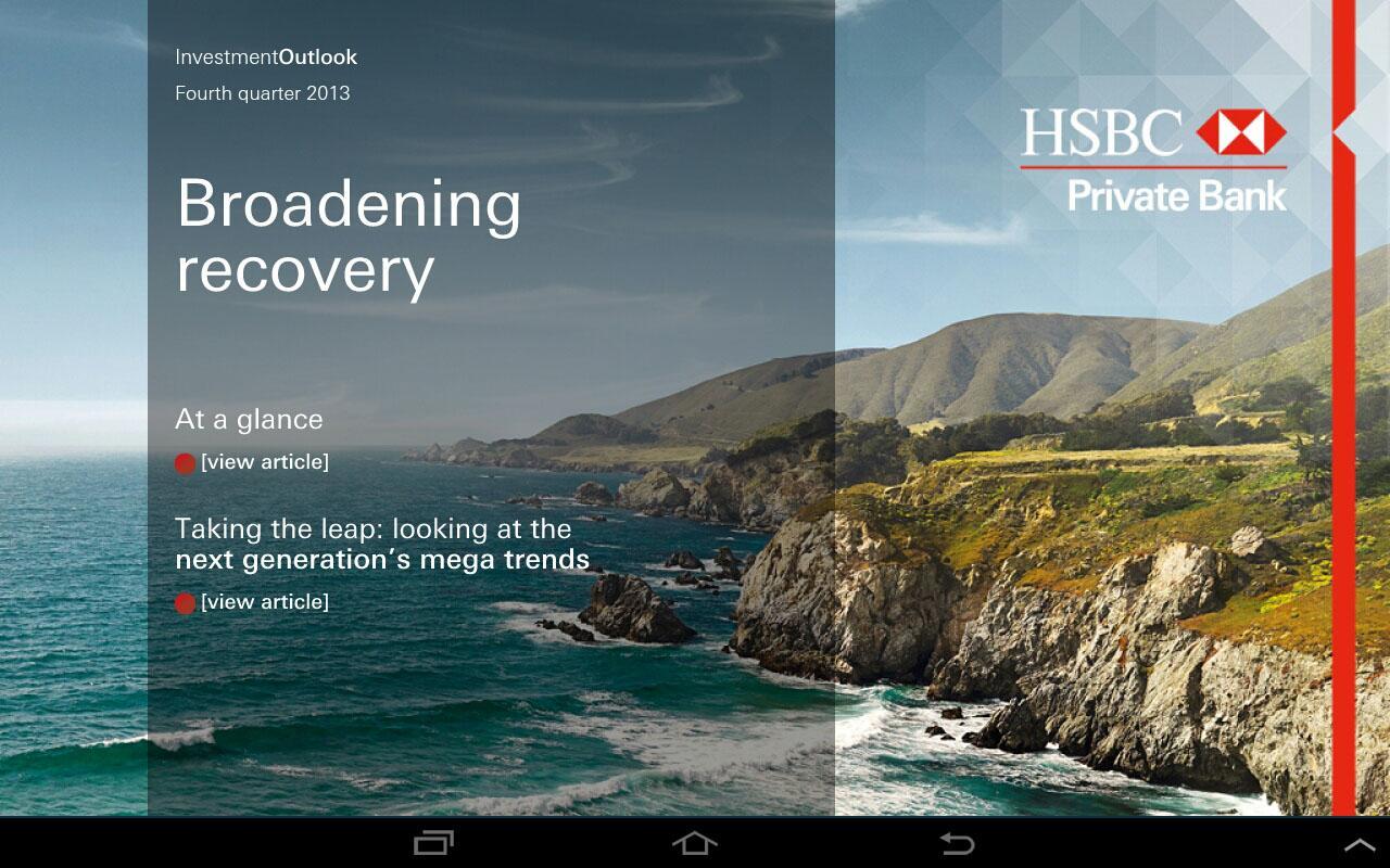HSBC Investment Outlook - screenshot