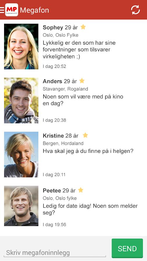 Møteplassen - date single - screenshot