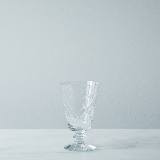 Vintage Footed Crystal Glass