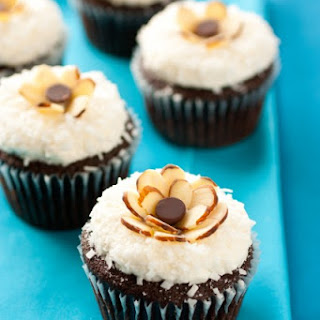 Chocolate Cupcakes with Coconut Frosting {Almond Joy Cupcakes}