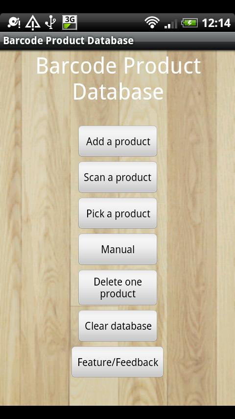 Barcode Product Database - screenshot