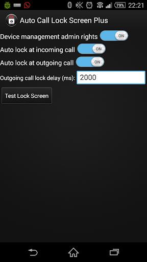 Auto Call Lock Screen Plus