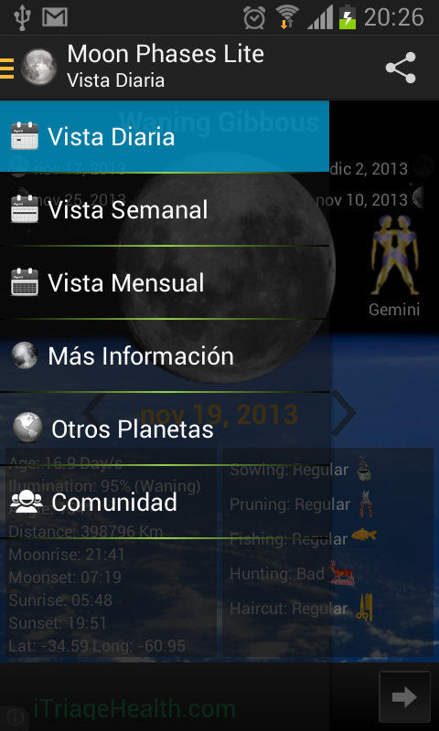 Moon Phases Lite - screenshot