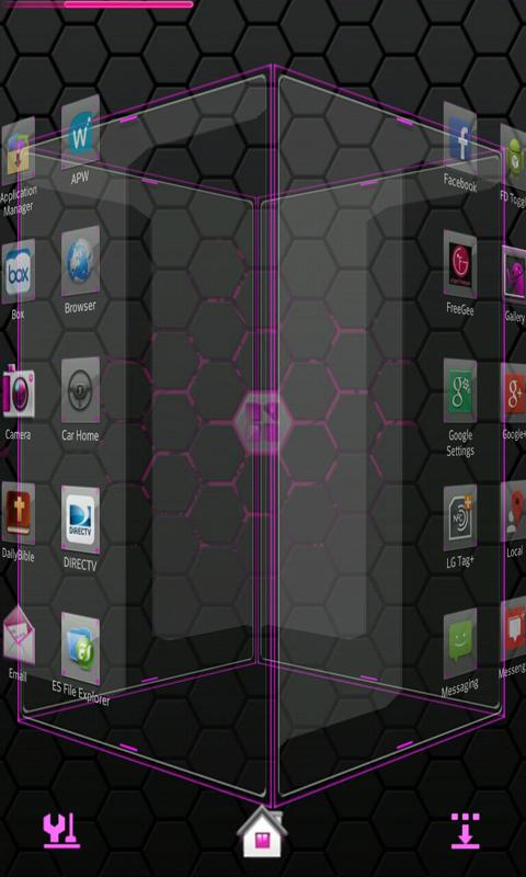 Pink Blend Next launcher - screenshot