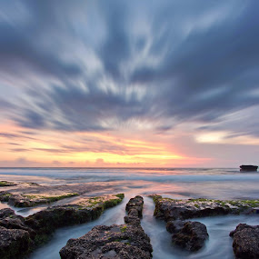 Coral and The Clouds  by Arya Satriawan - Landscapes Cloud Formations ( water, coral, nature, color, national geographic, sunset, cloud formation, beach, landscape )