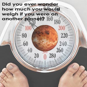 weight on other planets nasa - photo #13