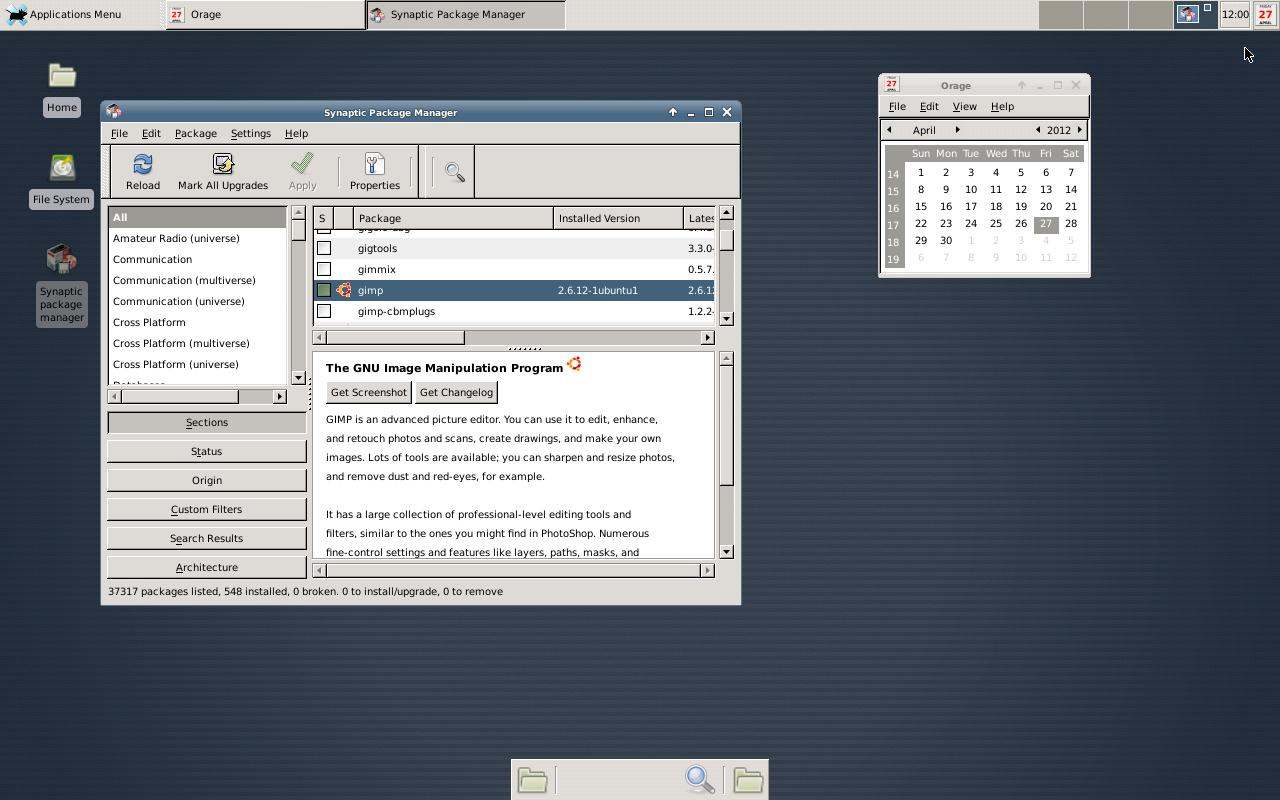 Debian noroot - screenshot