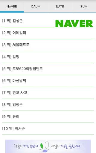실시간 검색 순위 Top 10