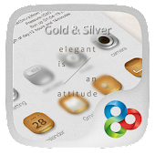 Gold&Silver GO Launcher Theme