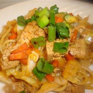 Sesame Asian Tofu Stir-Fry.