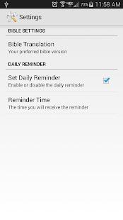 Daily Bible Verse- screenshot thumbnail