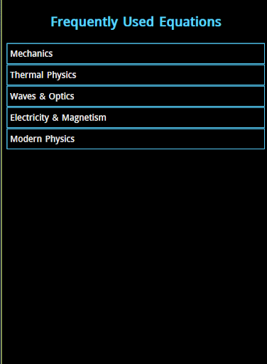 Physics Equations