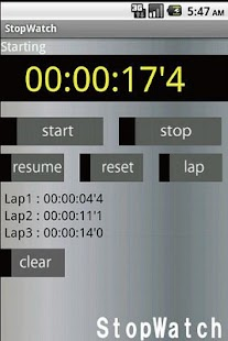 StopWatch Free- screenshot thumbnail