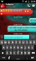Screenshot of GO SMS Angel Vs Devil Theme