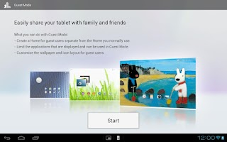 Screenshot of Home for Sony Tablet™