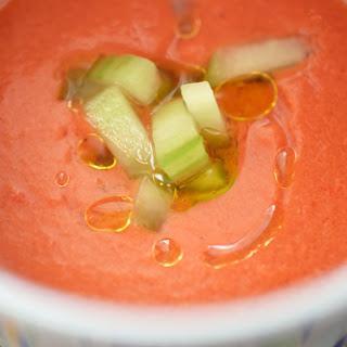 Watermelon and Tomato Gazpacho.